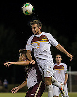 The Winthrop University Eagles played the College of Charleston Cougars at Eagles Field in Rock Hill, SC.  College of Charleston broke the 1-1 tie with a goal in the 88th minute to win 2-1.  Pietro Bottari (21), Jake Currie (10)