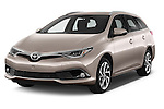 2015 Toyota Auris Touring Sports Dynamic 5 Door Wagon Angular Front stock photos of front three quarter view