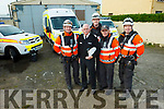 Ballybunion Coast Guard are looking for new recruits with two open days this weekend. Pictured were: Joby Costello, TJ McCarron (Officer in Charge), Jonathan Mahony, Jim Enright and Emmet Lynch.