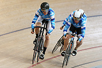 Antony Brown, Russell Scott and Cliff Parker of Auckland compete in the Masters Men 750m Team Sprint at the Age Group Track National Championships, Avantidrome, Home of Cycling, Cambridge, New Zealand, Saturday, March 18, 2017. Mandatory Credit: © Dianne Manson/CyclingNZ  **NO ARCHIVING**