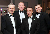 William Cotter, Net Affinity, Dick Walsh, Talbot Hotel Wexford, Ken Battigan, Talbot Carlow and Christopher Kenny, Net Affinity, at the Irish Hotels Federation Conference Gala Dinner in The Malton Hotel, Killarney on Tuesday night. Picture: MacMonagle, Killarney