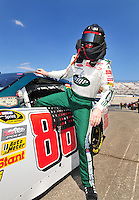 May 30, 2008; Dover, DE, USA; Nascar Sprint Cup Series driver Dale Earnhardt Jr during qualifying for the Best Buy 400 at the Dover International Speedway. Mandatory Credit: Mark J. Rebilas-