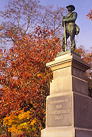 AJ3128, West Virginia, Confederate Memorial in Lewisburg in the state of West Virginia.