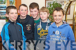 Pictured at the county final of the Community Games quiz held in Darby O'Gills hotel, Killarney on Friday night were Thomas Fleming, Donal O'Sullivan, James Flavin, Cian Tangney and Ben Flavin, Spa/Muckross, Killarney.........
