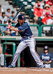 25 February 2019: Atlanta Braves infielder Charlie Culberson at bat during a pre-season Spring Training game against the Washington Nationals at Champion Stadium in the ESPN Wide World of Sports Complex in Kissimmee, Florida. The Braves defeated the Nationals 9-4 in Grapefruit League play in what will be their last season at the Disney / ESPN Wide World of Sports complex. Mandatory Credit: Ed Wolfstein Photo *** RAW (NEF) Image File Available ***