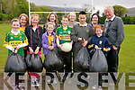 Beaufort GAA club are calling for donations of clothes, books and old mobile phones to help them raise funds. <br /> Front L-R Nicola English, Maggie Kingston, Adele and Niall O'Brien, Shane O'Sullivan Rouse and Holly Clifford. <br /> Back L-R Tara Clifford, Susan Clifford (secretary of Beaufort ladies), Fiona Furlong, Anna O'Sullivan Rouse and Denis Galvin.