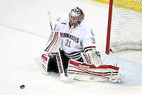 Nebraska-Omaha's Ryan Massa. Colorado College defeated Nebraska-Omaha 5-2 Saturday night at CenturyLink Center in Omaha. (Photo by Michelle Bishop) .