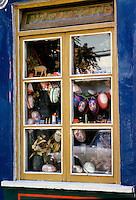 Shop window of curios in Lech, Austria