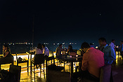 The Marina rooftop cafe in the Sea Palace Hotel in Colaba, Mumbai, India. Photo: Sanjit Das/Panos