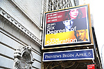 "Theatre Marquee unveiling for ""Six Degrees of Separation"" starring Allison Janney, John Benjamin Hickey and Corey Hawkins at the Ethel Barrymore Theater on 3/31/2017 in New York City."