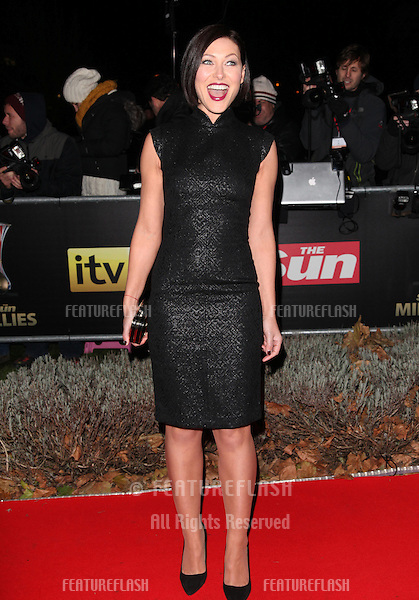 Emma Willis arriving for The Sun Military Awards, at The Imperial War Museum, London. 06/12/2012 Picture by: Alexandra Glen / Featureflash