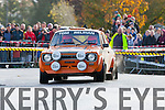Action<br /> --------<br /> Tom Relihan,Kilflynn navigated by Maurice McElligott,Causeway, entertain the large crowd of rally fans at kilflynn village during the 2nd stage of last Sundays Mini stages rally organised by Kerry Motor Club and sponsored by Banna Beach resort