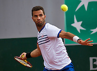 Paris, France, 26 June, 2016, Tennis, Roland Garros, Mixed Doubles:  Jean-Julien Rojer (NED) <br /> Photo: Henk Koster/tennisimages.com