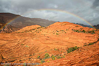 Full rainbow over the Petrified Dunes in Snow Canyon…blessed to capture this!