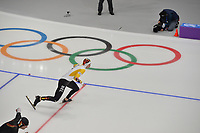 OLYMPIC GAMES: PYEONGCHANG: 19-02-2018, Gangneung Oval, Long Track, 500m Men, Mathias Vosté (BEL), ©photo Martin de Jong
