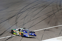 Feb. 28, 2009; Las Vegas, NV, USA; NASCAR Nationwide Series driver Jeff Burton crashes during the Sam's Town 300 at Las Vegas Motor Speedway. Mandatory Credit: Mark J. Rebilas-