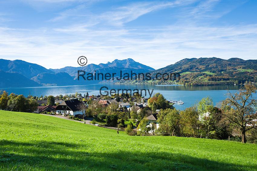 Austria, Upper Austria, Salzkammergut, Steinbach at lake Attersee: district Seefeld | Oesterreich, Salzkammergut, Steinbach am Attersee: Ortsteil Seefeld