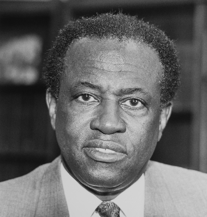 Portrait of Rep. Edolphus Towns, D-N.Y., on Feb. 26, 1990. (Photo by Maureen Keating/CQ Roll Call via Getty Images)