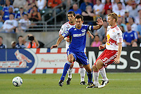 Tim Ream #5, Davy Arnaud...Kansas City Wizards were defeated 3-0 by New York Red Bulls at Community America Ballpark, Kansas City, Kansas.