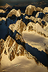 Aerial view of the Alaskan Range, Alaska, USA