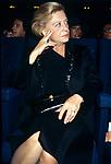 Giuletta Masina alla proiezione in sala Grande Festival di Venezia (anni 80)
