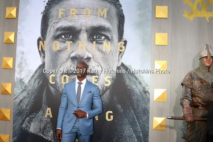 "LOS ANGELES - MAY 8:  Djimon Hounsou at the ""King Arthur Legend of the Sword"" World Premiere on the TCL Chinese Theater IMAX on May 8, 2017 in Los Angeles, CA"