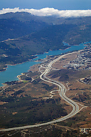 aerial photograph Interestate 280, Crystal Springs Reservoir, San Mateo County