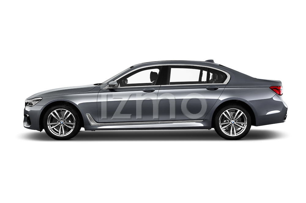 Car Driver side profile view of a 2016 BMW 7 Series 4 Door Sedan Side View