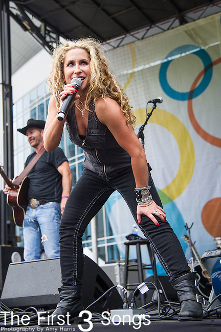 Heidi Newfield of Trick Pony performs on Day One of the 2014 CMA Music Festival in Nashville, Tennessee.