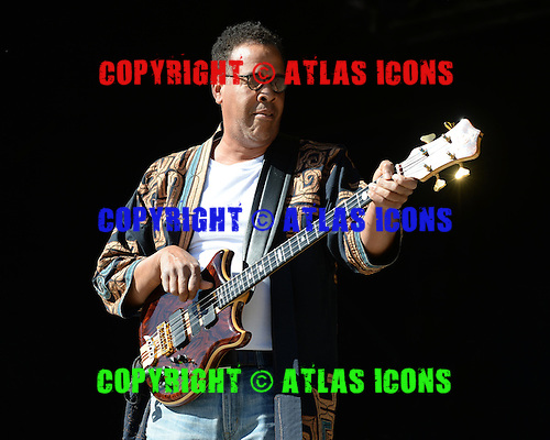 BOCA RATON FL - JANUARY 18 : Stanley Clarke performs at The Sunshine Blues Festival at The Mizner Park Ampitheatre on January 18, 2014 in Boca Raton, Florida. : Credit Larry Marano (C) 2014