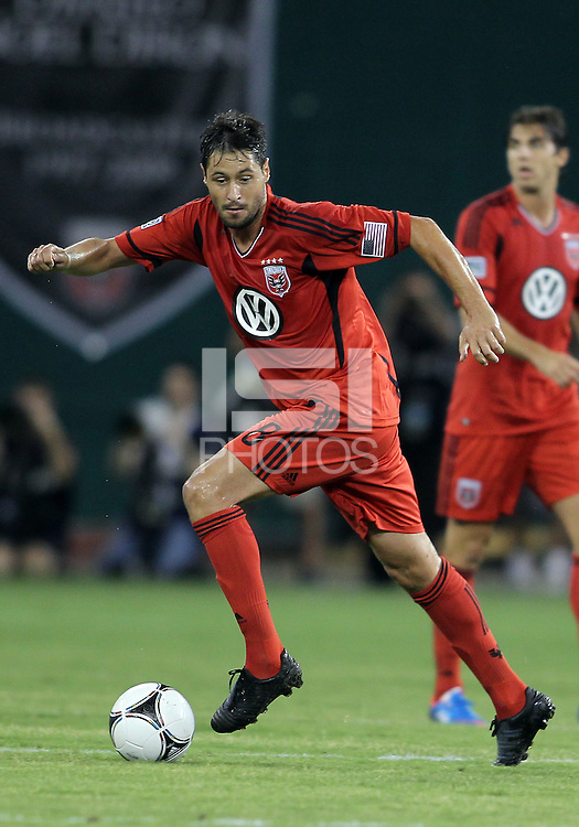 WASHINGTON, DC - July 28, 2012:  Branko Boskovic (8) of DC United playing against PSG (Paris Saint-Germain) in an international friendly match at RFK Stadium in Washington DC on July 28. The game ended in a 1-1 tie.
