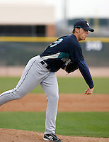 Stephen Kahn -  Seattle Mariners - 2009 spring training.Photo by:  Bill Mitchell/Four Seam Images