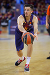 Turkish Airlines Euroleague 2017/2018.<br /> Regular Season - Round 13.<br /> FC Barcelona Lassa vs Unicaja Malaga: 83-90.<br /> Thomas Heurtel.