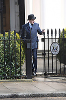 Ralph Fiennes<br /> 'Kingsman: The Great Game' filming on location in Belgravia, London England on April 14, 2019<br /> CAP/IH<br /> &copy;Ivan Harris/Capital Pictures