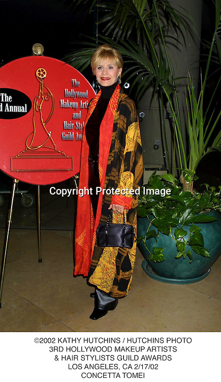 ©2002 KATHY HUTCHINS / HUTCHINS PHOTO.3RD HOLLYWOOD MAKEUP ARTISTS.& HAIR STYLISTS GUILD AWARDS.LOS ANGELES, CA 2/17/02.CONCETTA TOMEI