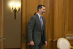 King Felipe VI of Spain during a royal audience with Singapur Prime Minister, Lee Hsien Loong, at Zarzuela Palace in Madrid, Spain. February 06, 2015. (ALTERPHOTOS/Victor Blanco)