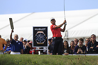 Joost Luiten (NED) on the 1st tee during Round 2 of the KLM Open at Kennemer Golf &amp; Country Club on Friday 12th September 2014.<br /> Picture:  Thos Caffrey / www.golffile