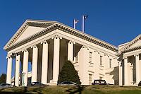 Virginia State Capitol building, in Richmond, Virginia.