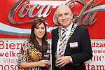 Caoimhe Mulroy, Once Upon Design with Padraic Kierans, President of Drogheda and District Chamber at the Official Opening of Coca Cola Global Business Services Finance Operation for Europe and Eurasia in Southgate Shopping Centre 28/10/11..(Photo credit should read Jenny Matthews www.newsfile.ie)....This Picture has been sent you under the conditions enclosed by:.Newsfile Ltd..The Studio,.Millmount Abbey,.Drogheda,.Co Meath..Ireland..Tel: +353(0)41-9871240.Fax: +353(0)41-9871260.GSM: +353(0)86-2500958.email: pictures@newsfile.ie.www.newsfile.ie.