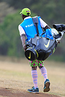 Colourful caddie during the third round of the of the Barclays Kenya Open played at Muthaiga Golf Club, Nairobi,  23-26 March 2017 (Picture Credit / Phil Inglis) 25/03/2017<br /> Picture: Golffile | Phil Inglis<br /> <br /> <br /> All photo usage must carry mandatory copyright credit (© Golffile | Phil Inglis)