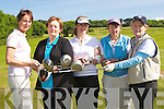 DRIVE: In preparation for the Lady cats golf day at Ballyheigue Golf Castle,Club on Saturdayu, l-r: Caitriona Keane, Margaret O'Donpoghue, Marian Barrett and Stephanie O'Reilly.....