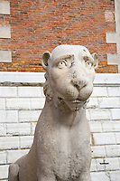4th Century Lion Statue at the Arsenal in Venice, Italy