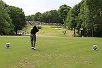 Thomas Aiken (RSA) tees off on the par3 2nd tee during the Final Day of the BMW PGA Championship Championship at, Wentworth Club, Surrey, England, 29th May 2011. (Photo Eoin Clarke/Golffile 2011)