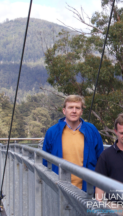 Crown Prince Willem-Alexander & Crown Princess Maxima of the Netherlands six-day tour of Australia..Visit to the Tahune Forest Airwalk in Tasmania..
