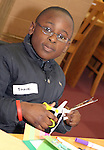 Shane Adu at the Card Making Workshop in The Library...Photo NEWSFILE/Jenny Matthews.(Photo credit should read Jenny Matthews/NEWSFILE)....This Picture has been sent you under the condtions enclosed by:.Newsfile Ltd..The Studio,.Millmount Abbey,.Drogheda,.Co Meath..Ireland..Tel: +353(0)41-9871240.Fax: +353(0)41-9871260.GSM: +353(0)86-2500958.email: pictures@newsfile.ie.www.newsfile.ie.FTP: 193.120.102.198.