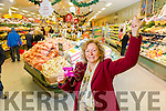 Marie Hartnett, Listowel winner of the Kerry's Eye Garveys  Shopping Competition, was presented with her €1000 shopping card at  Garveys SuperValu, Listowel on Tuesday