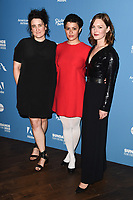 """LONDON, UK. May 31, 2019: Sophie Hyde, Alia Shawkat and Holiday Grainger arriving for the European premiere of """"Animal"""" at Picturehouse Central, London.<br /> Picture: Steve Vas/Featureflash"""