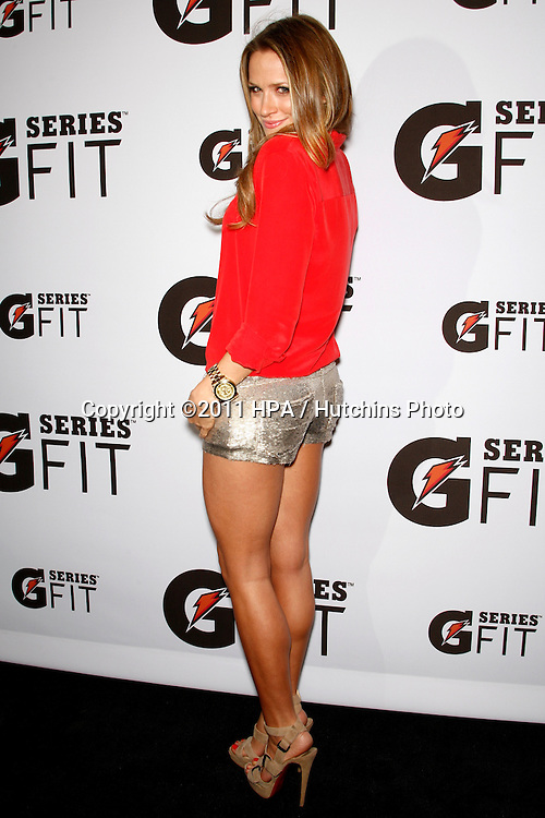 "LOS ANGELES - APR 12:  Shantel VanSanten arriving at the ""Gatorade G Series Fit Launch Event"" at SLS Hotel on April 12, 2011 in Los Angeles, CA"