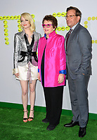 Emma Stone, Billie Jean King, Steve Carell at the premiere for &quot;Battle of the Sexes&quot; at the Regency Village Theatre, Westwood, Los Angeles, USA 16 September  2017<br /> Picture: Paul Smith/Featureflash/SilverHub 0208 004 5359 sales@silverhubmedia.com