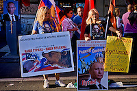 Roma 3 Ottobre 2015<br /> Manifestazione a sostegno del Presidente russo Putin, a  Piazzale Flaminio,  &ldquo;Io sto con Putin&quot; , per sconfiggere il terrorismo islamico, per fermare la crisi migratoria, per ritrovare la sovranit&agrave;&rdquo;. I manifestanti chiedono anche l&rsquo;immediata rimozione delle sanzioni alla Russia. La manifestazione &egrave; organizzata dal Comitato Italia-Russia e dal Vladimir Putin Italian Fan Club.<br /> Rome, October 3, 2015<br /> Rally in support of Russian President Putin, Piazzale Flaminio, &quot;I'm with Putin&quot;, to defeat Islamic terrorism, to stop the migration crisis, to regain sovereignty.The protesters are also demanding the immediate removal of sanctions on Russia.The event is organized by the committee Italy-Russia,  and  from Vladimir Putin the Italian Fan Club.